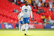 Tranmere Rovers defender Emmanuel Monthe (6) during the EFL Sky Bet League 2 Play Off Final match between Newport County and Tranmere Rovers at Wembley Stadium, London, England on 25 May 2019.