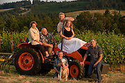 The Grand Cru Estates team, Laurent & Danielle Montalieu, Steve & Marian Bailey, Tony Rynders, Philippe Boulot & his dog