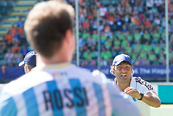 THE HAGUE - Rabobank Hockey World Cup 2014 - 2014-06-10 - MEN - ARGENTINA - SOUTH AFRICA -head coach Argentina Carlos Retegui <br /> Copyright: Willem Vernes