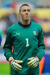 SWANSEA, ENGLAND - Friday, September 4, 2009: Italy's goalkeeper Vincenzo Fiorllo lines-up before the UEFA Under 21 Championship Qualifying Group 3 match against Wales at the Liberty Stadium. (Photo by Gareth Davies/Propaganda)