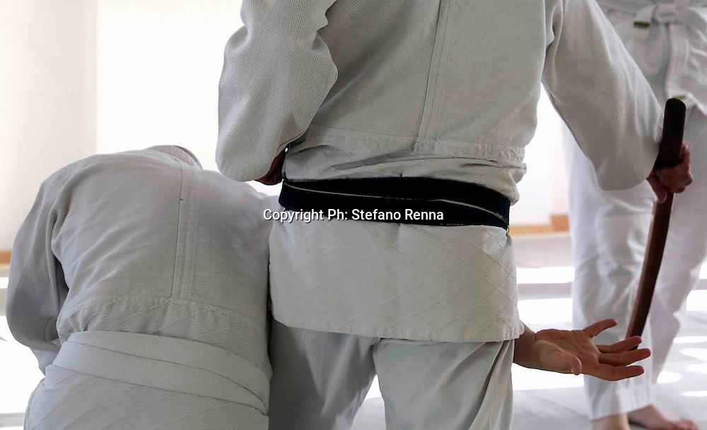 Portici (NA) 16 Aprile 2016<br /> SHINKIDO Arte marziale giapponese<br /> nelle foto : Stage nazionale diShinkido tenuto dal fondatore M&deg; Kaoru Kurihara.