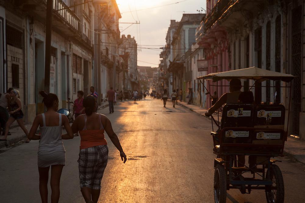 Sunset at Centro Habana, Havana, Cuba.