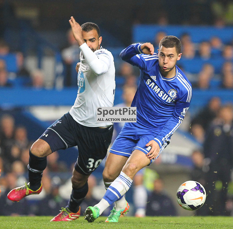 Chelsea's Eden Hazard moves forward during the English Barclays Premiership match between Chelsea FC and Tottenham Hotspur FC at Stamford Bridge, London, 8th March 2014 © Phil Duncan | SportPix.org.uk
