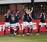 16th December 2017, Dens Park, Dundee, Scotland; Scottish Premier League football, Dundee versus Partick Thistle; Dundee's Mark O'Hara is congratulated after scoring for 2-0