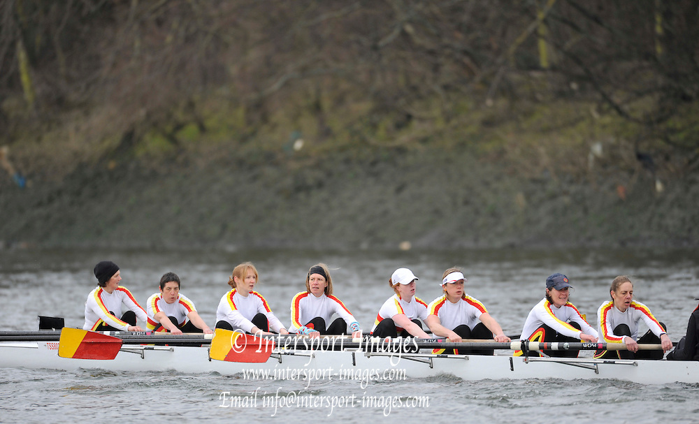 London. Great Britain. Tideway Scullers School, B, Veteren D.  2010 Women's Head of the River Race, Raced over the reverse Championship Course, Chiswick to Putney, River Thames, England,  Saturday   13/03/2010 [Mandatory Credit. Peter Spurrier/Intersport Images]