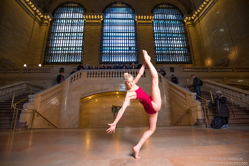Grand Central Terminal Dance As Art New York Photography Project with dancer Erika Citrin