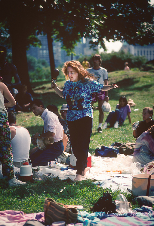 Hippies in Central Park, New York City, 1991.