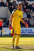 Dundee Keeper Seny Dieng during the Ladbrokes Scottish Premiership match between St Mirren and Dundee at the Paisley 2021 Stadium, St Mirren, Scotland on 30 March 2019.