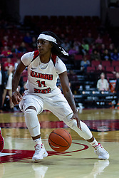 NORMAL, IL - February 07: Tete Maggett during a college women's basketball game between the ISU Redbirds and the Braves of Bradley University February 07 2020 at Redbird Arena in Normal, IL. (Photo by Alan Look)