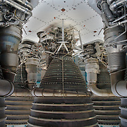 Saturn V first stage F-1 Engines, the engines which sent the Apollo Astronauts to the Moon.