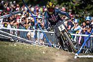Luca Shaw (USA) on his downhill run at the 2018 UCI MTB World Championships - Lenzerheide, Switzerland