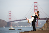 Baker Beach Wedding.  San Francisco Wedding Photographer.  San Francisco Wedding Photojournalism.  Bay Area Wedding Photographer. <br />
