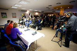 Press conference a day before FIFA World Cup Qualifications match between Slovakia and Slovenia, on October 09, 2009, in Tehelne Pole Stadium, Bratislava, Slovakia.  (Photo by Vid Ponikvar / Sportida)