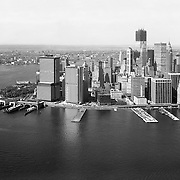 Aerial view of 55 water Street. Lower Manhattan. October 6, 1970.