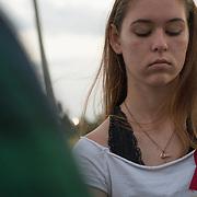 TUESDAY, FEBRUARY 27- 2018---PARKLAND, FLORIDA--<br /> Sarah Chadwick, 16, 11th grade, a student turned anti gun activists  from Marjory Stoneman Douglas High School.(Photo by Angel Valentin/FREELANCE)