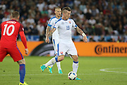 Slovakia Midfielder Juraj Kucka during the Euro 2016 Group B match between Slovakia and England at Stade Geoffroy Guichard, Saint-Etienne, France on 20 June 2016. Photo by Phil Duncan.