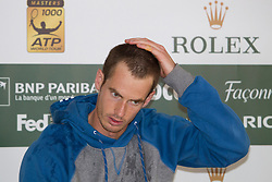 ATP Monte Carlo Rolex Masters 2012 3rd Round..19-04-12...Scotland's Andy Murray, Andy Murray (GBR) during his post match press conference after winning his 3rd round match against Julien Benneteau (FRA) default after after injury forced him to retire at the ATP Monte Carlo Masters tennis tournament held in the Monte Carlo Country Club, Monaco..At Monte Carlo, Monaco..Thursday 19th April 2012.Picture Mitchell Gunn/ Prolens Photo Agency / PLPA