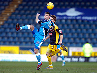 Photo: Alan Crowhurst.<br />Wycombe Wanderers v Stockport County. Coca Cola League 2. 28/01/2006. <br />Matt Bloomfield of Wycombe clears the ball.