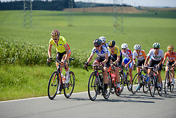 Ellen van Dijk and Lisa Brennauer look to keep the leaders in sight at Thüringen Rundfarht 2016 - Stage 6 a 130 km road race starting and finishing in Schleiz, Germany on 20th July 2016.