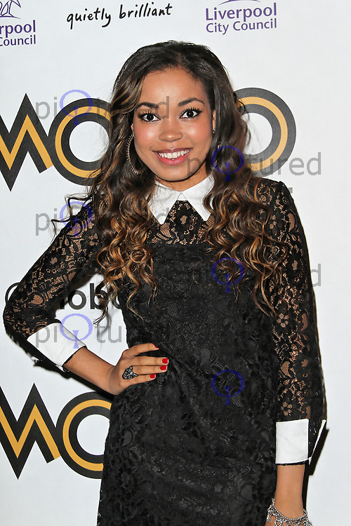 LONDON - SEPTEMBER 17: Dionne Bromfield attended the Nominations Launch of the MOBO Awards at Floridita London, UK. September 17, 2012. (Photo by Richard Goldschmidt)