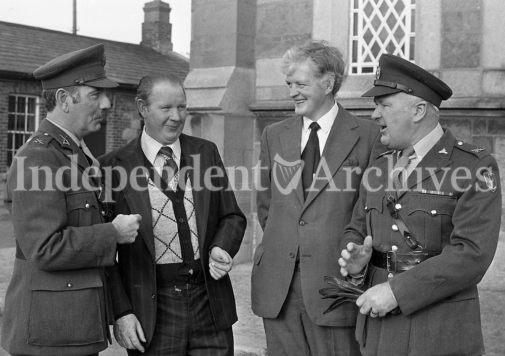 Survivors of the Niembia Ambush, Pte Tom Kenny(Left)and Pte Joe Fitzpatrick at the Commemoration Mass at Cathal Brugha Barracks, Dublin, 11/11/1978 (Part of the Independent Newspapers Ireland/NLI Collection).