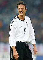 Fussball / Deutsche Nationalmannschaft Fredi BOBIC, Gestik deutscher Nationalspieler