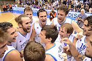 Trieste, 02/09/2012<br /> Basket, Eurobasket 2013 Qualifying Round<br /> Italia - Repubblica Ceca<br /> Nella foto: team italia Luigi Datome Danilo Gallinari<br /> Foto Ciamillo