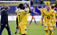 Fotball<br /> Tippeligaen<br /> Bodø/Glimt v Aalesund<br /> 26.07.2015<br /> Foto: Kent Even Grundstad/Digitalsport<br /> <br /> Papa Alioune Ndiaye / Badou (7) - BG
