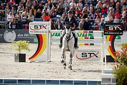 MARSCHALL Marcel (GER), Fenia van Klapscheut<br /> Hagen - Horses and Dreams meets the Royal Kingdom of Jordan 2018<br /> Grosser Preis der DKB Qualifikation DKB-Riders Tour<br /> 30 April 2018<br /> www.sportfotos-lafrentz.de/Stefan Lafrentz