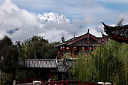 Yulong Xue Shan (Jade Dragon Snow Mountain) seen from Lijiang,<br />