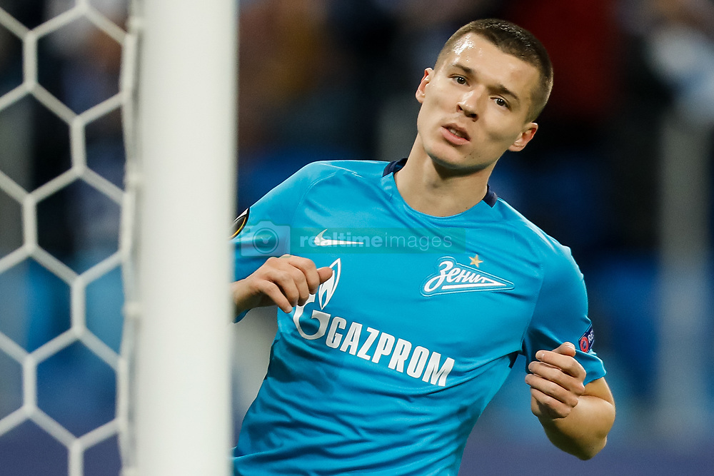 November 23, 2017 - Saint Petersburg, Russia - Dmitri Poloz of FC Zenit Saint Petersburg during the UEFA Europa League Group L match between FC Zenit St. Petersburg and FK Vardar at Saint Petersburg Stadium on November 23, 2017 in Saint Petersburg, Russia. (Credit Image: © Mike Kireev/NurPhoto via ZUMA Press)