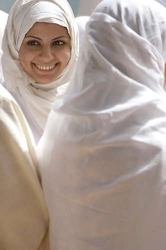 Iraqi Mandean Christian women during baptism ceremony, Damascus, Syria..Photograph by John Wreford.9th May 2010