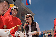 17681International Street Fair May 20, 2006...Eui Jamada, Hiroui SakawotoChris Rogers, Catherine Monthienvichienchai, Mai MAson(sunglases)..Thai Smile