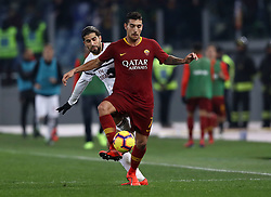 February 3, 2019 - Rome, Italy - AS Roma v AC Milan - Serie A.Ricardo Rodriguez of Milan and Lorenzo Pellegrini of Roma at Olimpico Stadium in Rome, Italy on February 3, 2018. (Credit Image: © Matteo Ciambelli/NurPhoto via ZUMA Press)