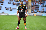 Wasps winger Marcus Watson (15) during the Gallagher Premiership Rugby match between Wasps and London Irish at the Ricoh Arena, Coventry, England on 20 October 2019.