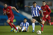 Ross Wallace (Sheffield Wednesday) takes a shot during the Sky Bet Championship match between Sheffield Wednesday and Blackburn Rovers at Hillsborough, Sheffield, England on 5 April 2016. Photo by Mark P Doherty.