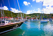 356208-1000 ~ Copyright:  George H. H. Huey ~ Boats in harbor at port of Gustavia, St. Barts.  Leeward Islands, Caribbean.