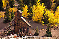 The historic Yankee Girl Mine on Red Mountain Pass, San Juan Mountains, Colorado.