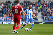 Brighton defender, Bruno Saltor passes the ball forward during the Sky Bet Championship match between Brighton and Hove Albion and Cardiff City at the American Express Community Stadium, Brighton and Hove, England on 3 October 2015. Photo by Phil Duncan.