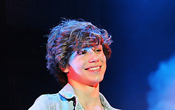 © Licensed to London News Pictures. 12/10/2013, UK. 5 George Shelley; Union J, Girlguiding BIG GIG, Wembley Arena, London UK, 12 October 2013. Photo credit : Richard Goldschmidt/Piqtured/LNP