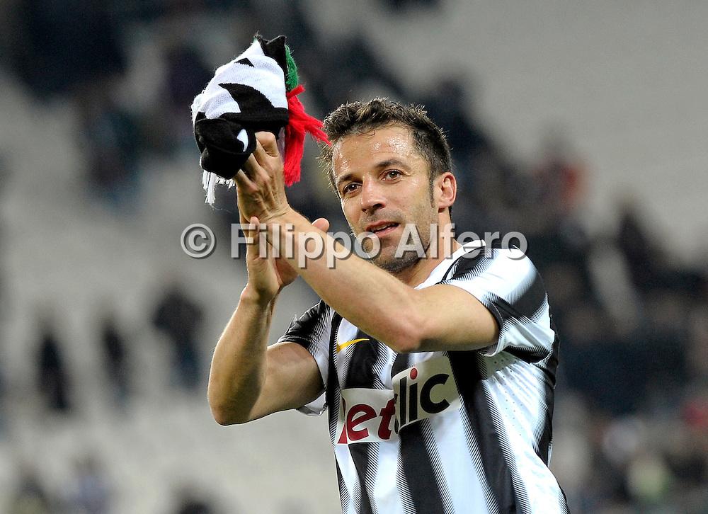 &copy; Filippo Alfero<br /> Juventus vs Lazio - Serie A 2011 / 2012<br /> Torino, 11/04/2012<br /> sport calcio<br /> Nella foto: Alessandro Del Piero