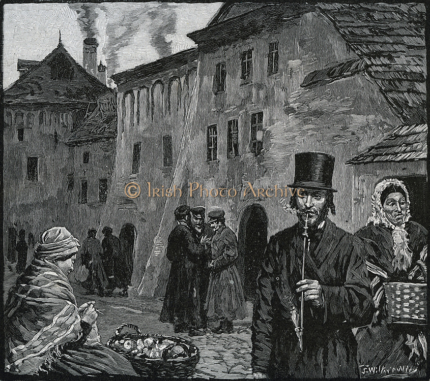 The Jewish ghetto, Cracow, Poland, in 1890