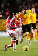 London - Saturday, January 3rd, 2009: Jose Semedo of Charlton Athletic and Wesley Hoolahan of Norwich City during the FA Cup Third Round match at The Valley, London. (Pic by Alex Broadway/Focus Images)