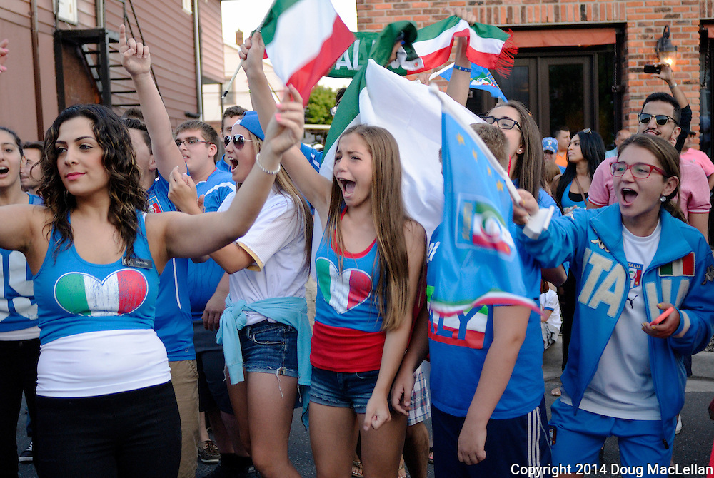 Italy beats England, Erie Street, Windsor, ON.