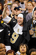 NEW ORLEANS, LA - DECEMBER 26:   Fans of the New Orleans Saints cheer on their team during a game against the Atlanta Falcons at Mercedes-Benz Superdome on December 26, 2011 in New Orleans, Louisiana.  The Saints defeated the Falcons 45-16.  (Photo by Wesley Hitt/Getty Images) *** Local Caption ***