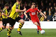 Craig Clay of Leyton Orient (8) looks to pass the ball during the Vanarama National League match between Harrogate Town and Leyton Orient at Wetherby Road, Harrogate, United Kingdom on 22 September 2018.