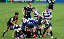 Matt Sturgess of Sale Sharks U18 passes the ball - Mandatory by-line: Robbie Stephenson/JMP - 29/01/2017 - RUGBY - Sixways Stadium - Worcester, England - Worcester Warriors U18 v Sale Sharks U18 - Premiership Rugby U18 Academy League
