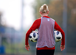 NEWPORT, WALES - Friday, October 5, 2018: Wales' captain Sophie Ingle during a training session at Dragon Park. (Pic by David Rawcliffe/Propaganda)