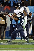 Jacksonville Jaguars wide receiver Donte Moncrief (10) tries to catch a pass broken up by Tennessee Titans cornerback Malcolm Butler (21) during the week 14 regular season NFL football game against the Tennessee Titans on Thursday, Dec. 6, 2018 in Nashville, Tenn. The Titans won the game 30-9. (©Paul Anthony Spinelli)