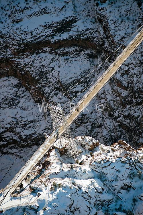 Royal Gorge Bridge in winter